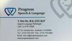 Progress Speech & Language