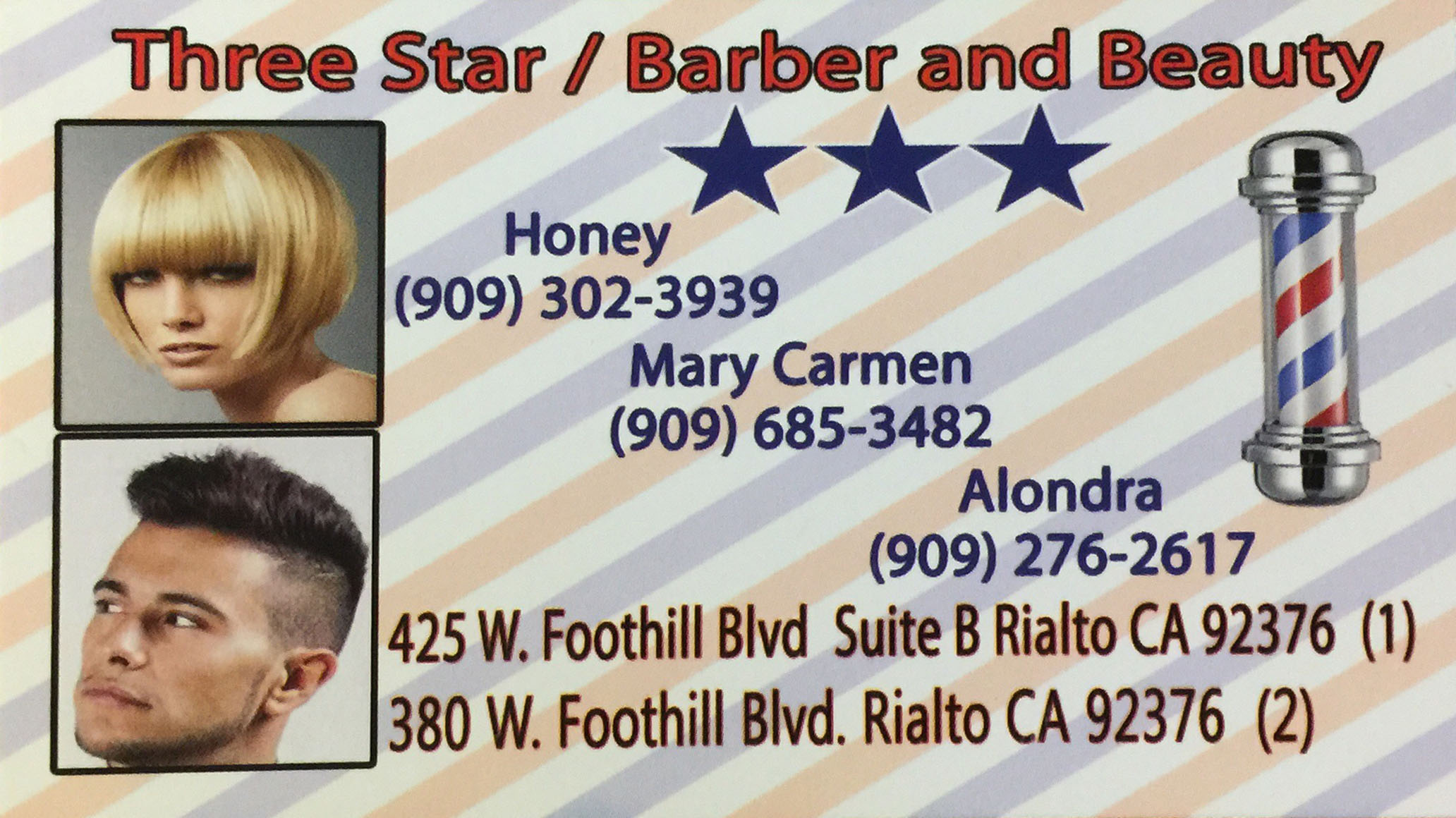 Three Star Barber and Beauty