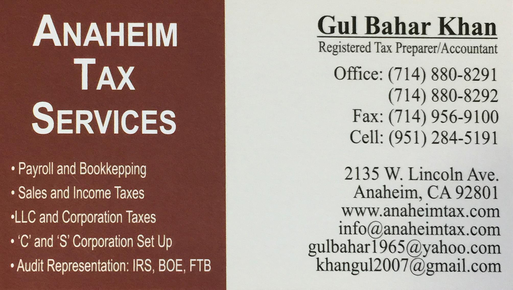 Anaheim Tax Service