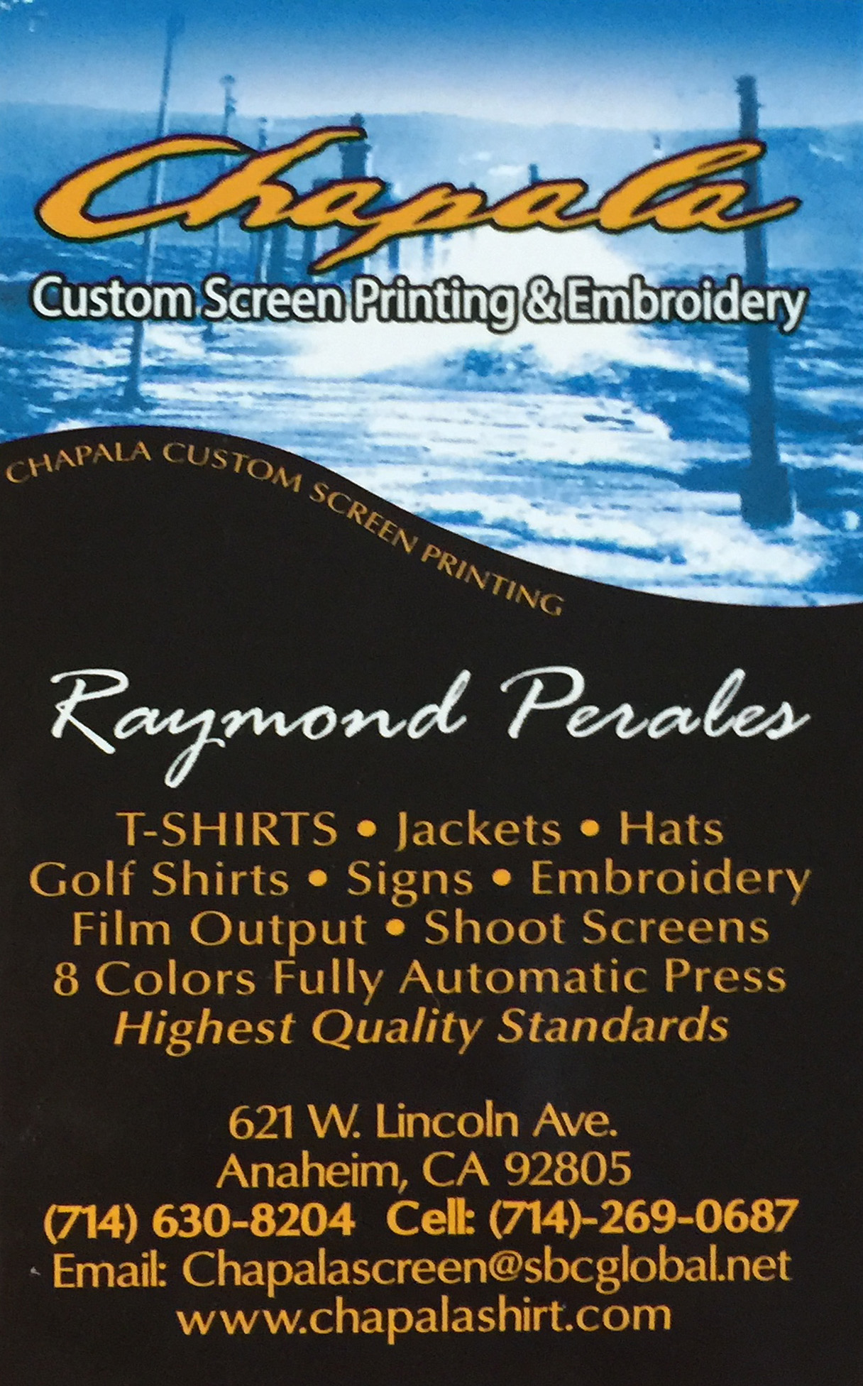 Chapla Custom Screen Printing & Embroidery
