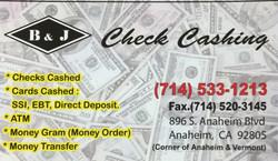 B&J Check Cashing