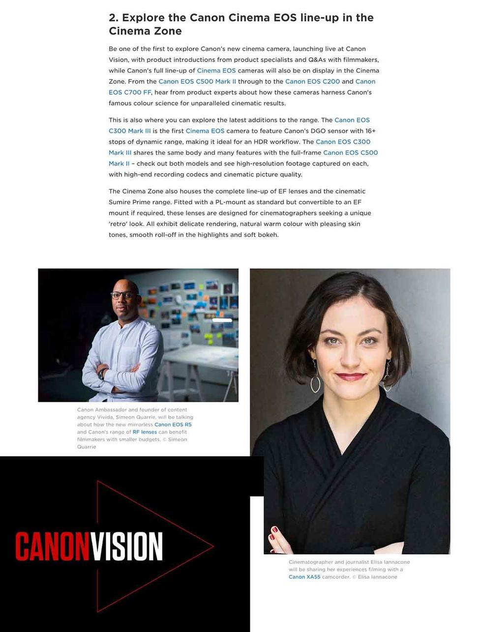 Canon Vision Cinema EOS Launch