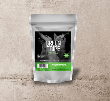 Organic Paws Green Tripe Mini Balls 500g