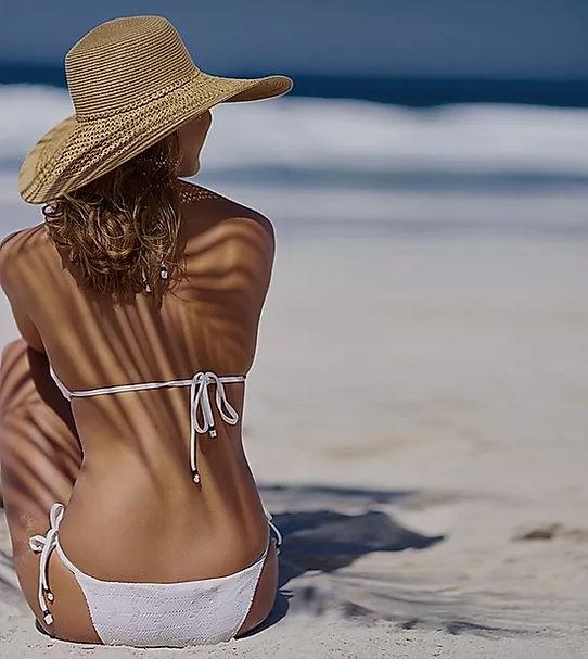 Sun, beach, bikini, hat, strand, sol