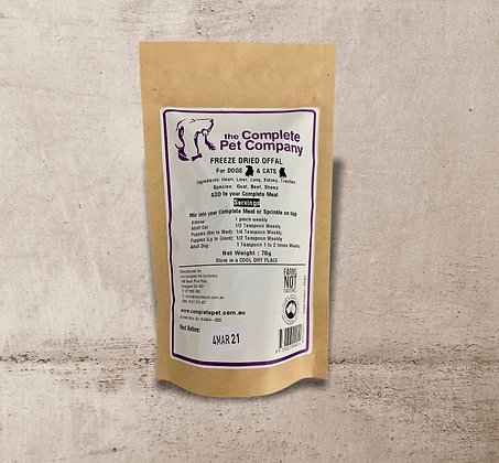 Freeze Dried Offal Mix 70g ~ The Complete Pet Company