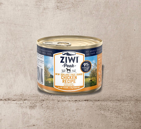 ZIWI Peak Can Free-Range Chicken Recipe for Dogs 170g
