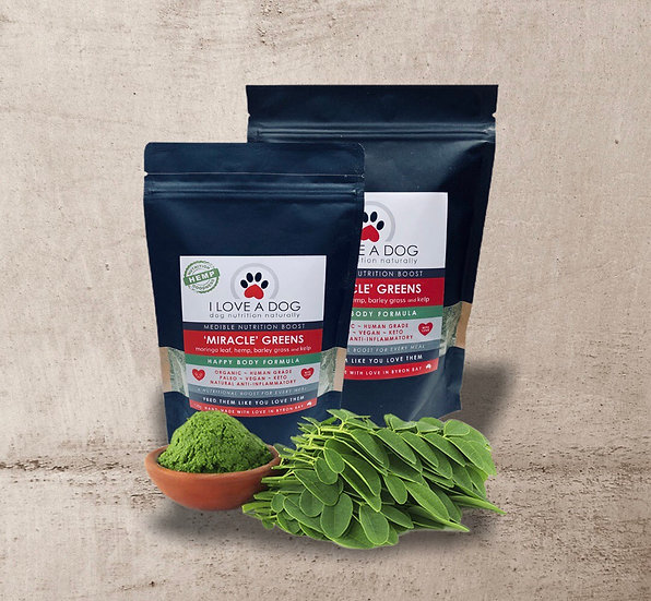 Miracle Greens 130g ~ I Love a Dog