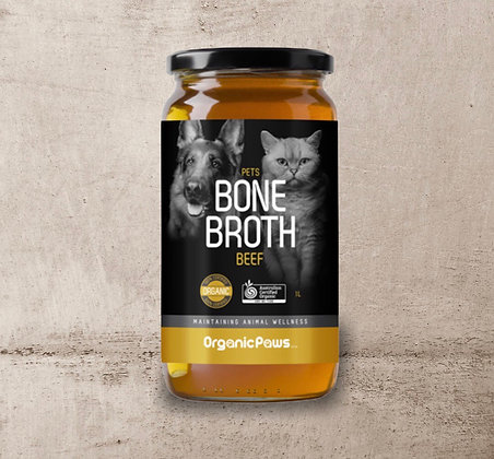 Organic Paws Beef Bone Broth 1 Litre