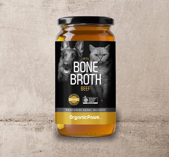 Organic Paws Beef Bone Broth 1 Litre