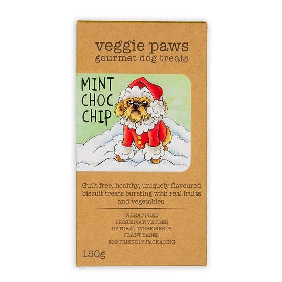 Veggie Paws Mint Choc Chip Biscuits 150g