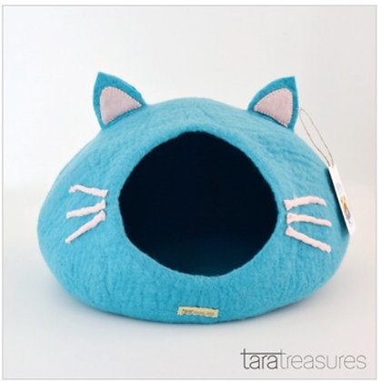 Tara Treasures Cat Cave - Blue Head