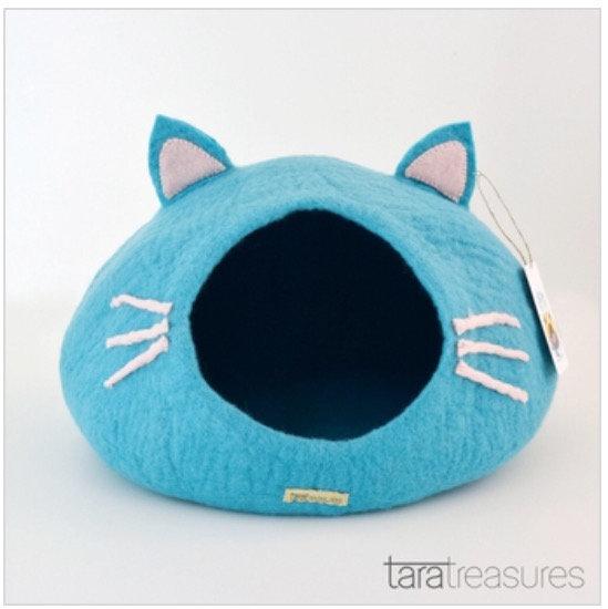 Tara Treasures Cat Cave - Blue Head