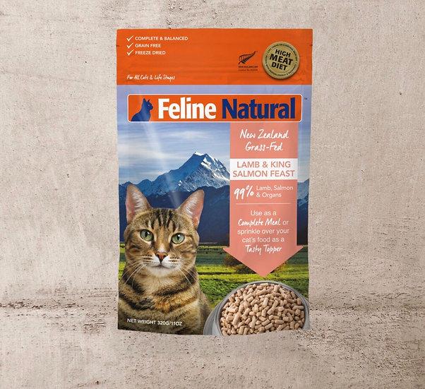 Feline Natural Freeze Dried Lamb & King Salmon Feast 100g