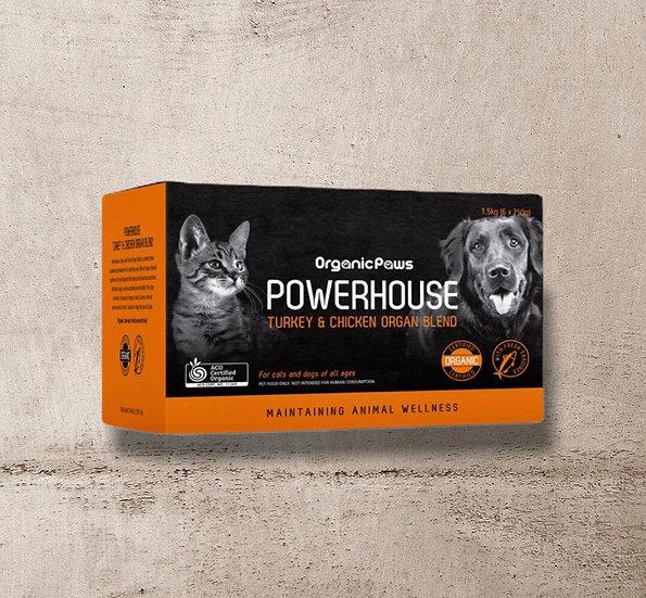 Organic Paws Powerhouse Turkey & Chicken Organ Blend 1.5kg INSTORE ONLY