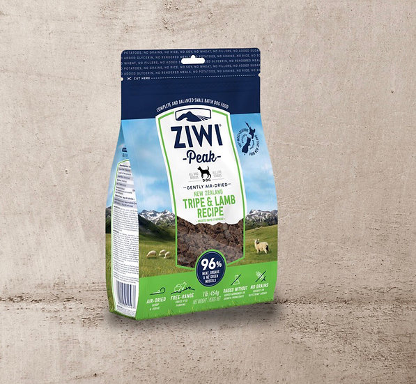 Ziwi Air Dried Tripe & Lamb for Dogs 454g