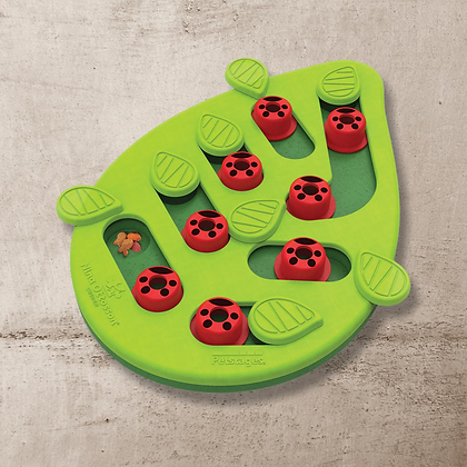 Nina Ottosson Puzzle & Play Buggin Out Treat Dispensing Cat Toy - Green