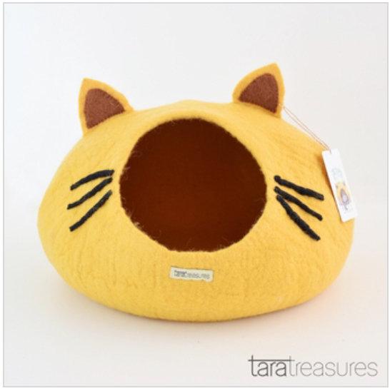 Tara Treasures Cat Cave - Yellow Head