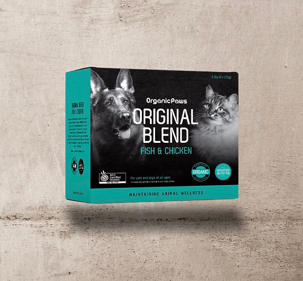 Organic Paws Fish & Chicken Original Blend 2.2kg INSTORE ONLY