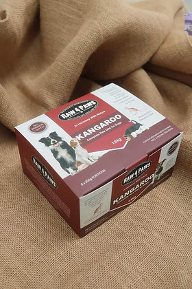 Raw 4 Paws Kangaroo for Dogs 1.6kg 8 x 200g Portions PICK UP ONLY