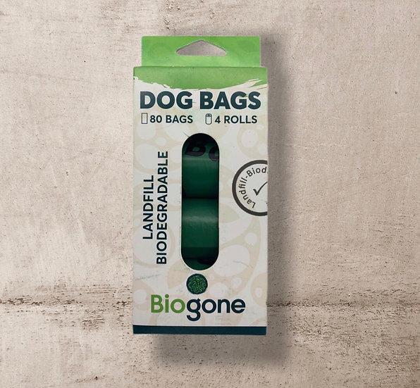 Bio-Gone Poop Bags 4 x Rolls (80 Bags Total) Pack