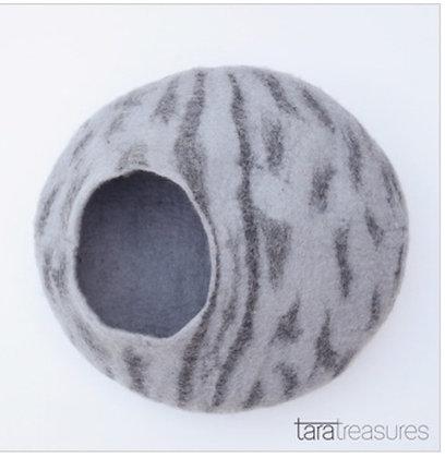 Tara Treasures Cat Cave - Grey Stripes (Smaller Size)