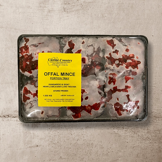 Offal Mince for Dogs & Cats 1kg Portion Pack INSTORE ONLY