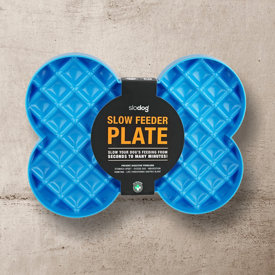 SloDog Bone-Shaped Slow Food Plate for Cats & Dogs