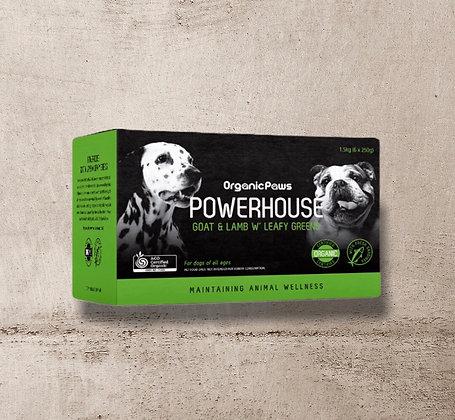 Organic Paws Powerhouse Goat & Lamb w'Leafy Greens 1.5kg