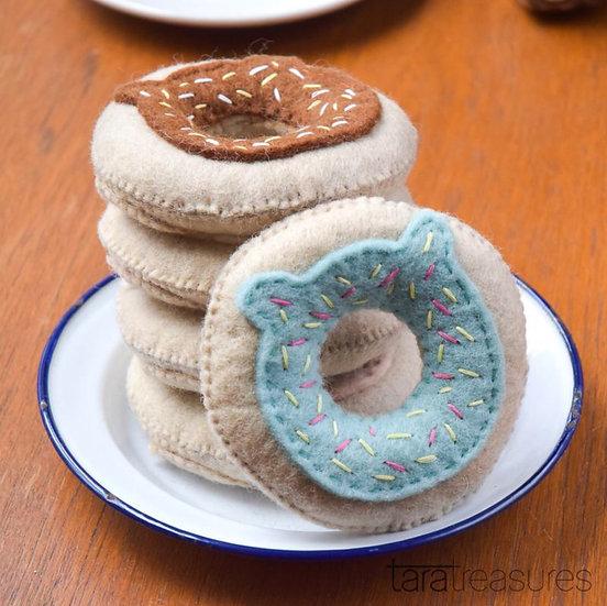 Felt Donut Cat Toy with Catnip
