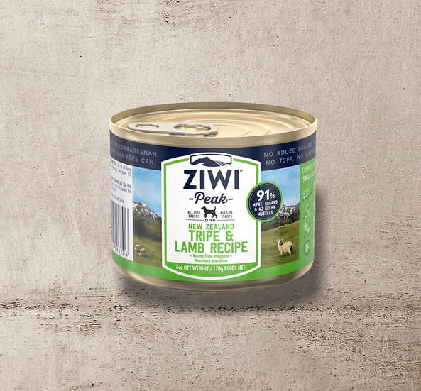 ZIWI Peak Can Tripe & Lamb Recipe for Dogs 170g