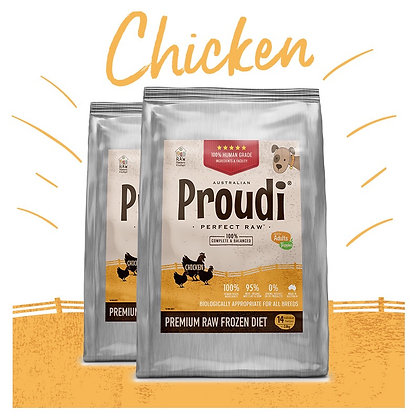 Proudi® Raw Frozen Chicken Patties For DOGS 2.8kg PICK UP ONLY