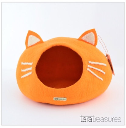 Tara Treasures Cat Cave - Orange Head