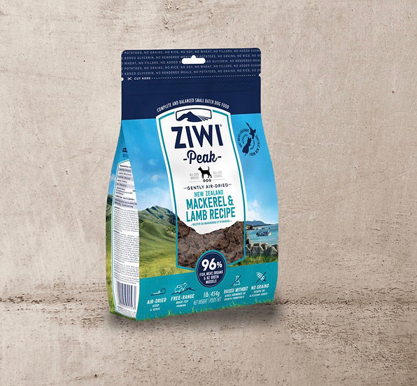 Ziwi Air Dried Mackerel & Lamb for Dogs 454g
