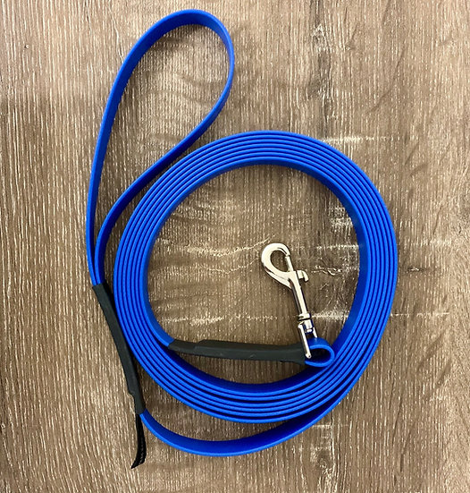 Biothane 4m Long Lead ~ 19mm Wide ~ Stainless Steel Clip