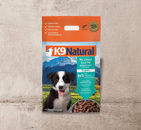 K9 Natural Puppy Beef Feast with Hoki Oil