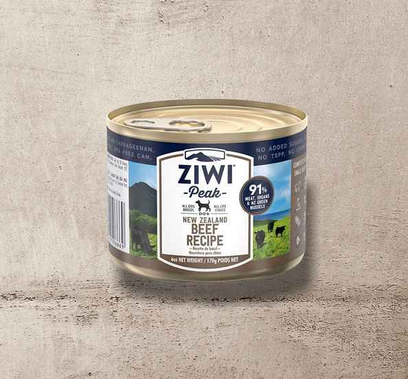 ZIWI Peak Can Beef Recipe for Dogs 170g