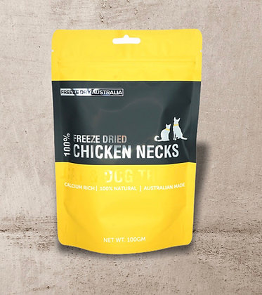 Freeze Dry Australia Chicken Necks 100g