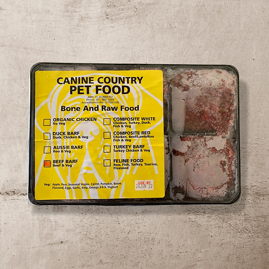 Beef BARF for Dogs 1kg Roll or Portions INSTORE ONLY