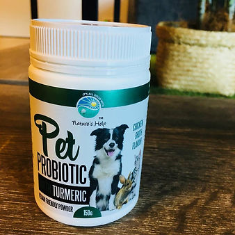 Pet Probiotic, Organic Turmeric, Gold Coast, Wholefood Pet Market, Natures Help