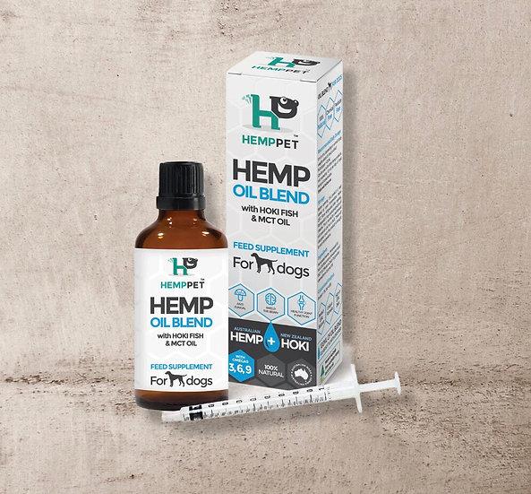 Hemp Oil Blend with Hoki Fish & MCT Oil for Dogs 100ml