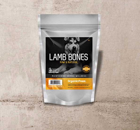 Organic Paws Lamb Bones 1kg INSTORE ONLY