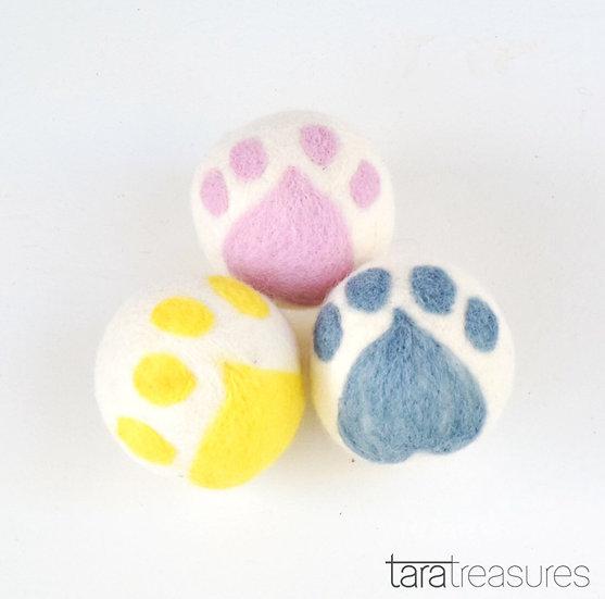 Large Felt Cat Paw Ball Toy