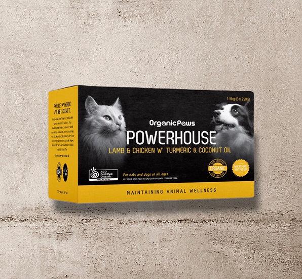 Organic Paws Powerhouse Lamb & Chicken w' Turmeric & Coconut Oil 1.5kg