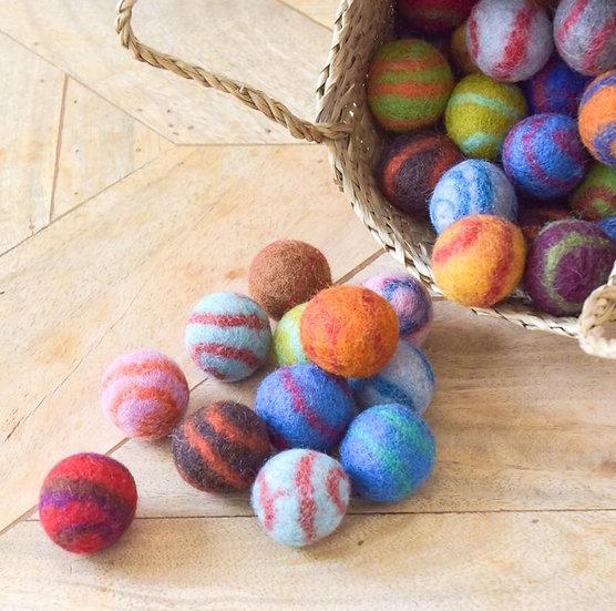 Small Felt Balls for Cats 3 Pack