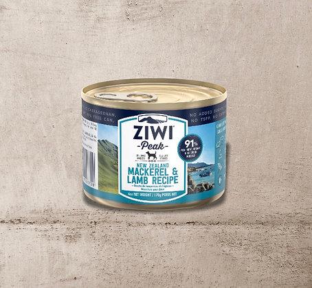 ZIWI Peak Can Mackerel & Lamb Recipe for Dogs 170g