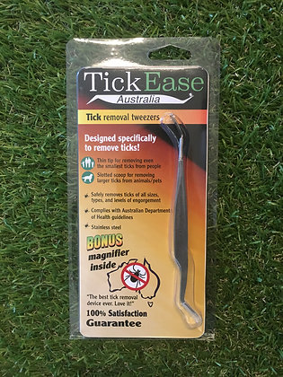 Tick Ease - 100% Stainless Steel Tick Remover Tweezers
