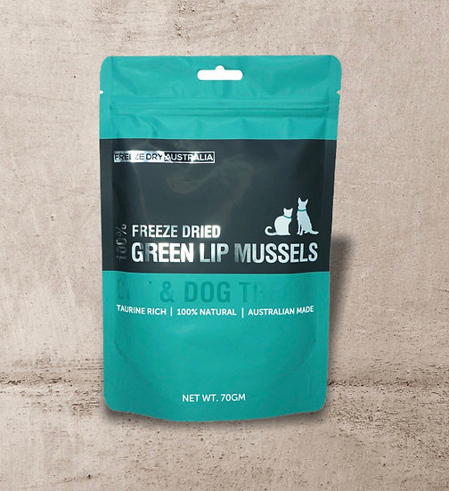 Freeze Dry Australia Whole Green Lipped Mussels 70g