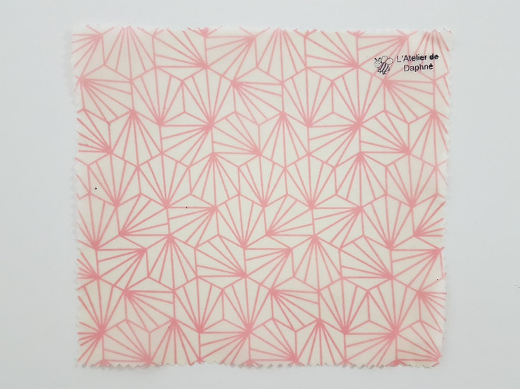 Bee Wrap Géométrique rose