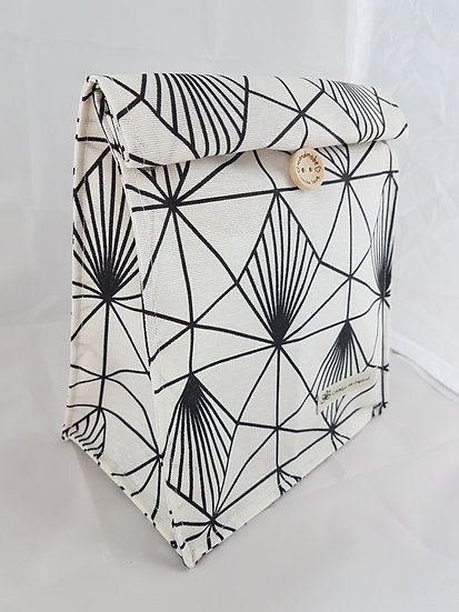 Lunch bag Noir et blanc mat