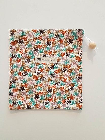 Sac à vrac Fleurs multicolores